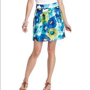 Loft floral a line skirt